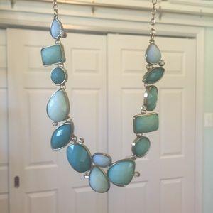 Francesca's Blue Stone Statement Necklace